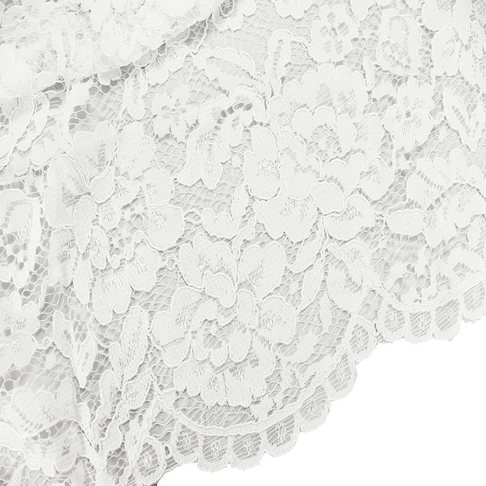 Scalloped Lace Ivory