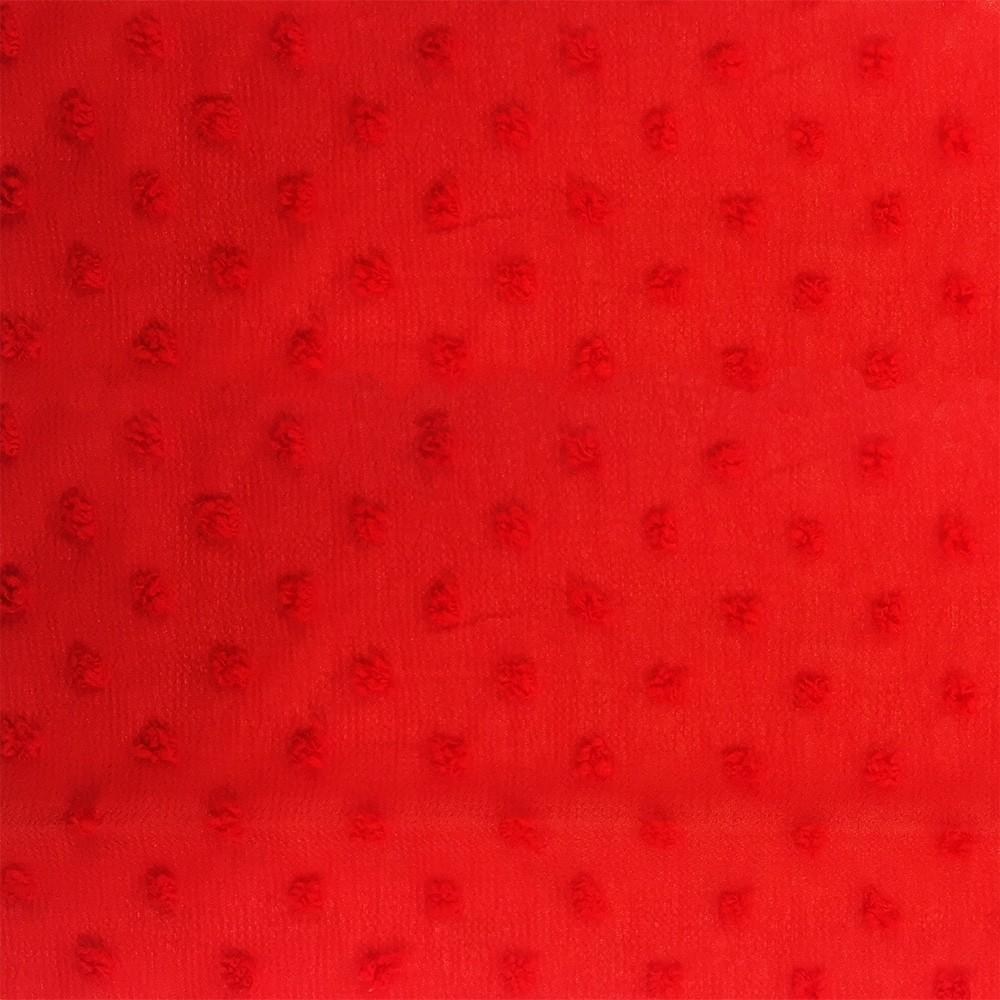 Chiffon Dobby Spot Red