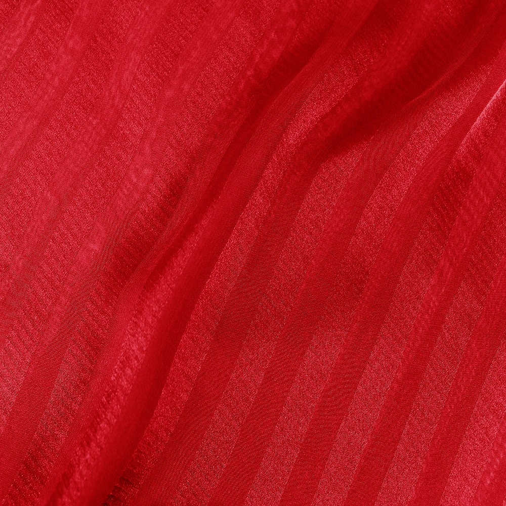 Striped Chiffon Jacquard Red