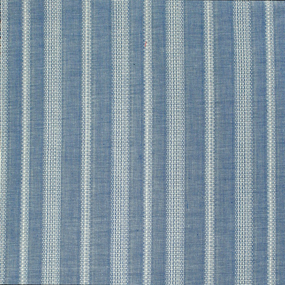Cotton Border Stripe Blue