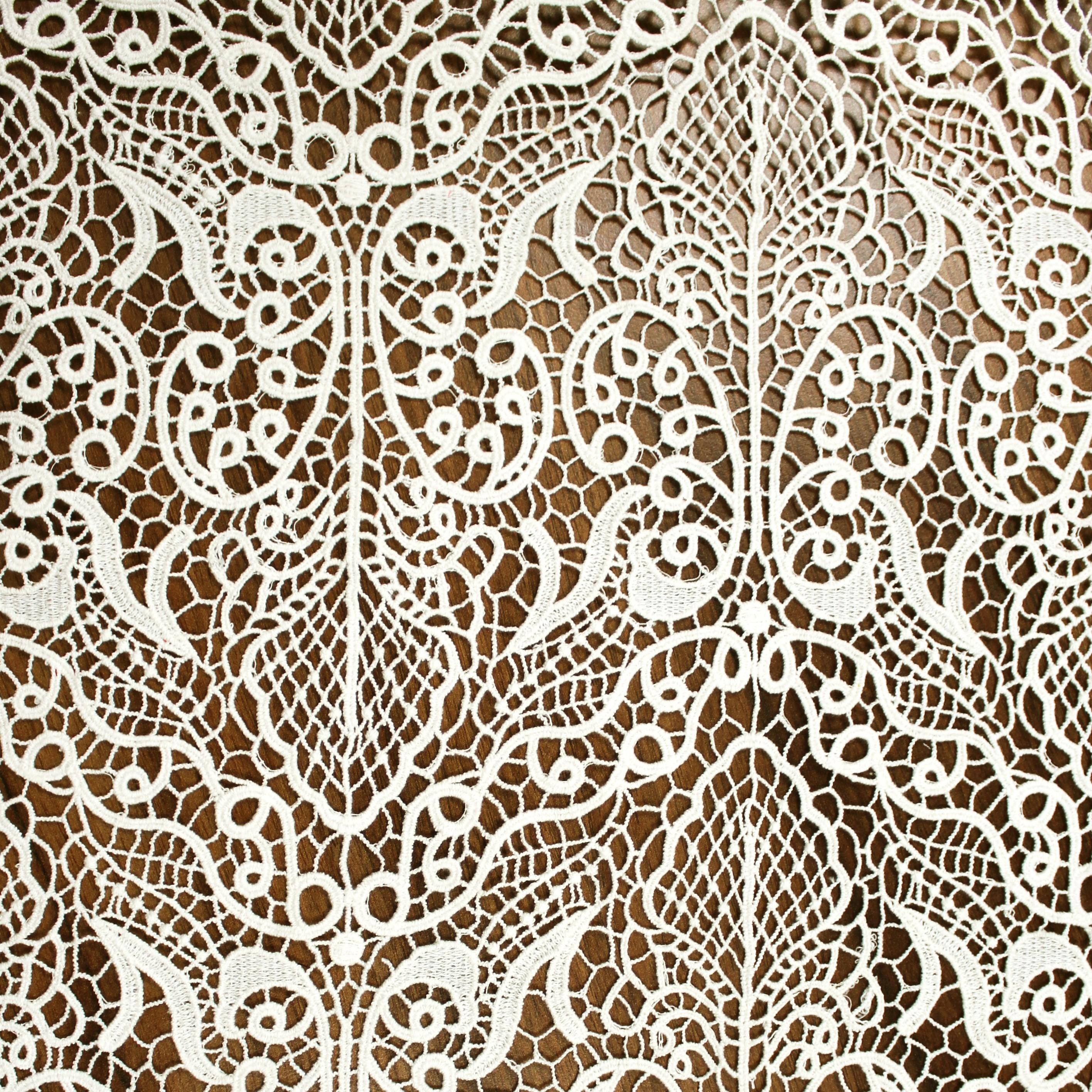Cotton Embroidery Lace Cream