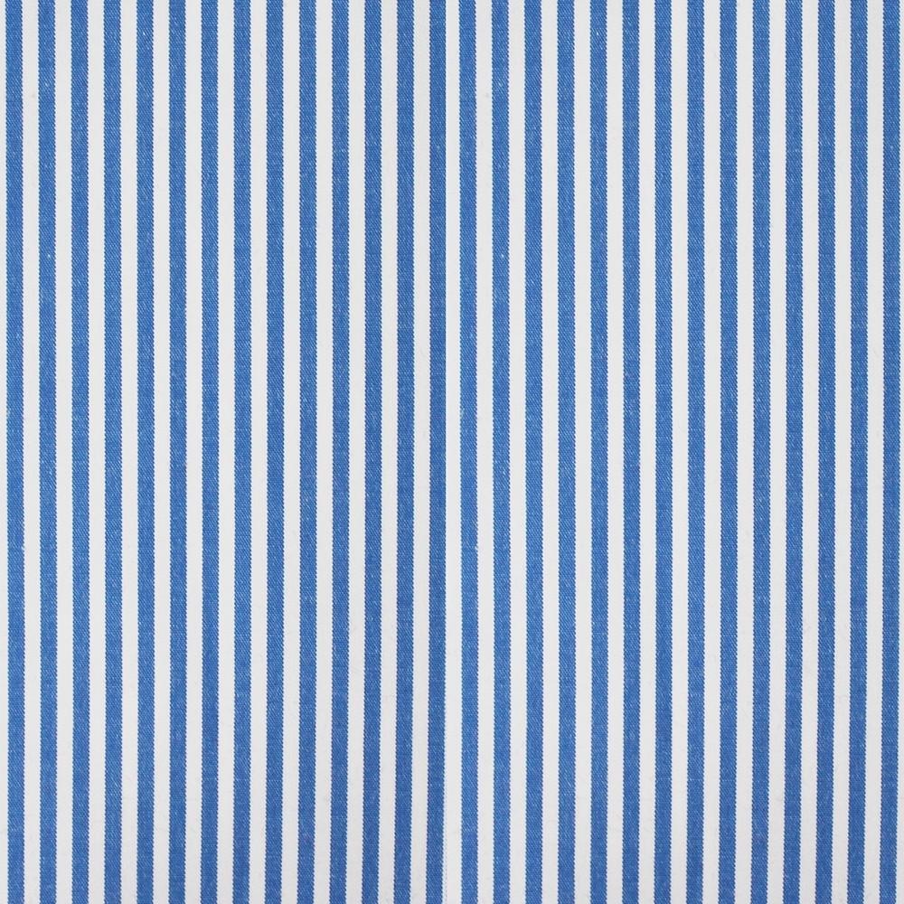 Cotton Poplin Medium Stripe Denim Blue