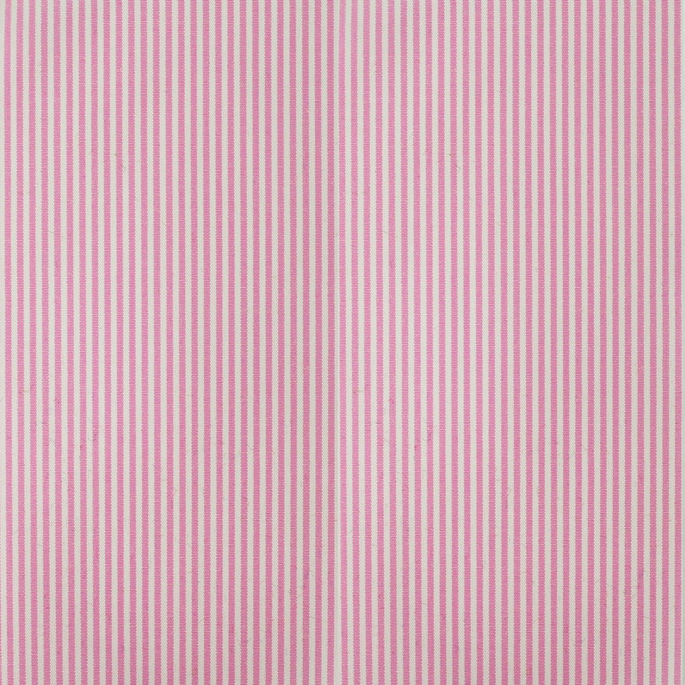 Cotton Poplin Narrow Stripe Pink
