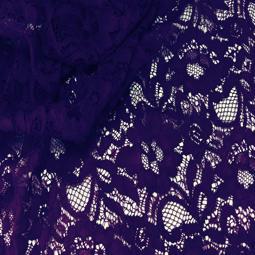 Floral Corded Lace Aubergine