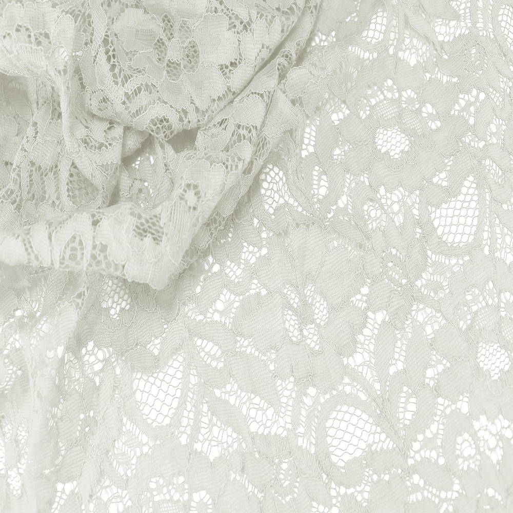 Floral Corded Lace Ivory