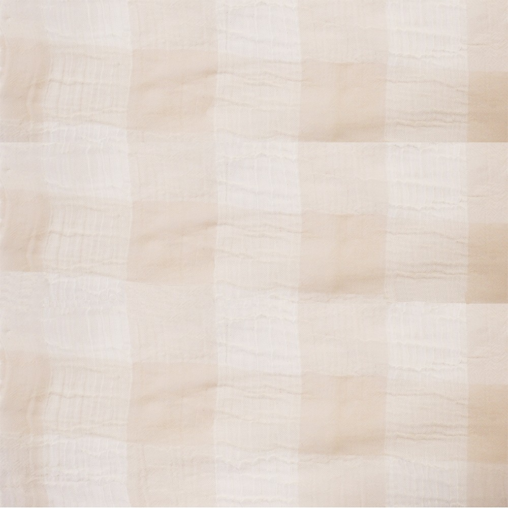 Large Check Chiffon Yoryu Blush White
