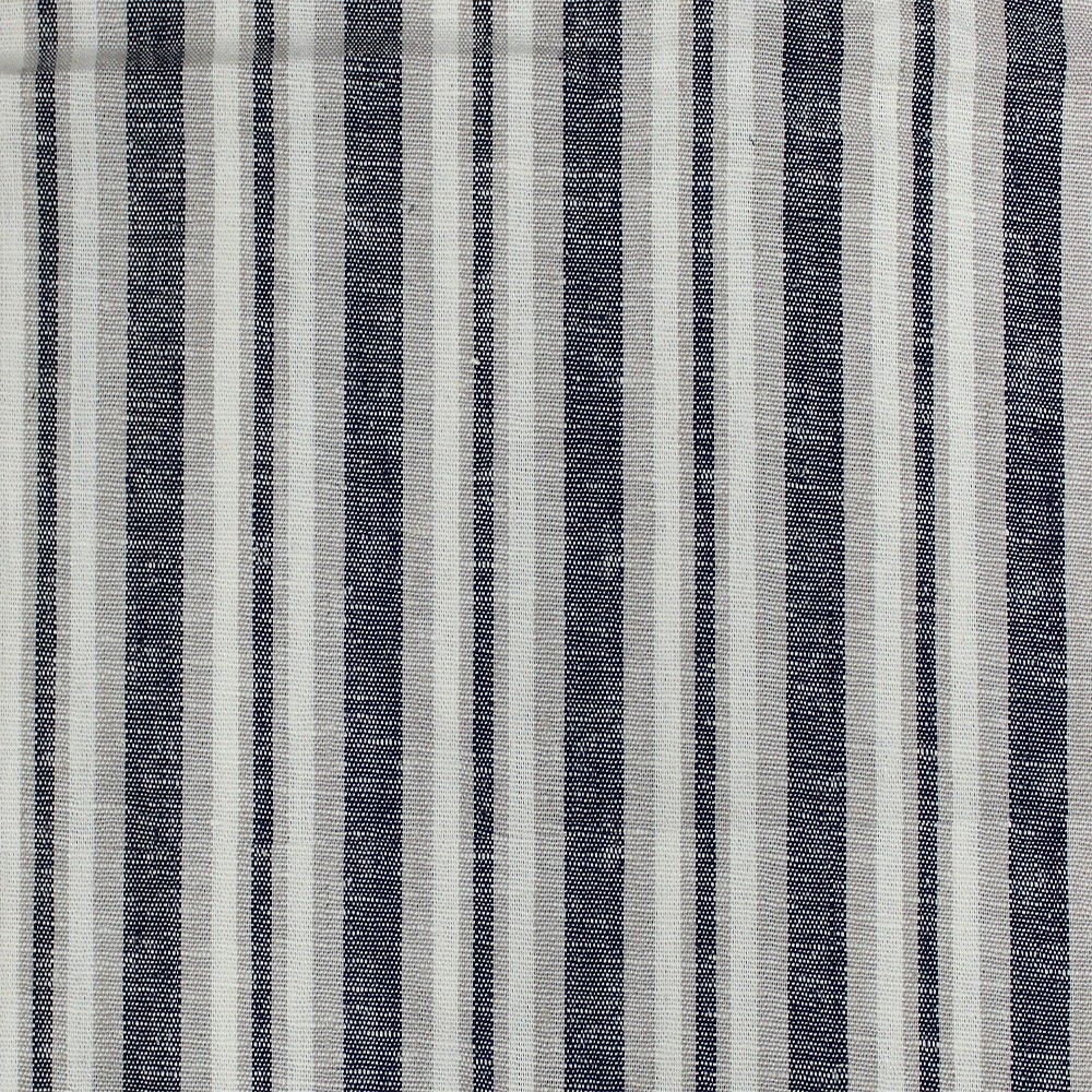 Linen Block Stripe Navy