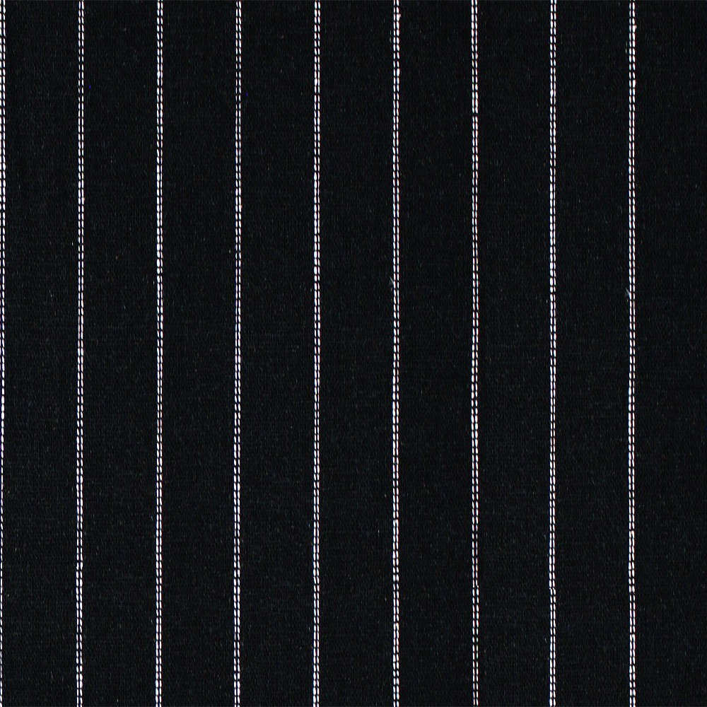 Linen Dotted Stripe Black