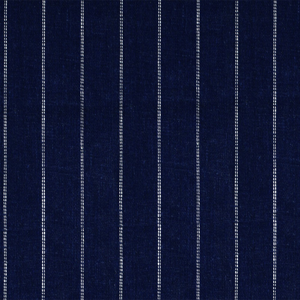 Linen Dotted Stripe Navy