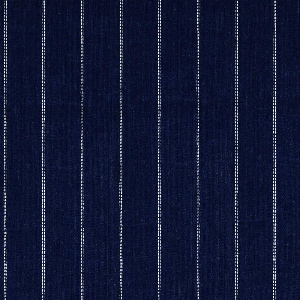 Linen Dotted Stripe Navy
