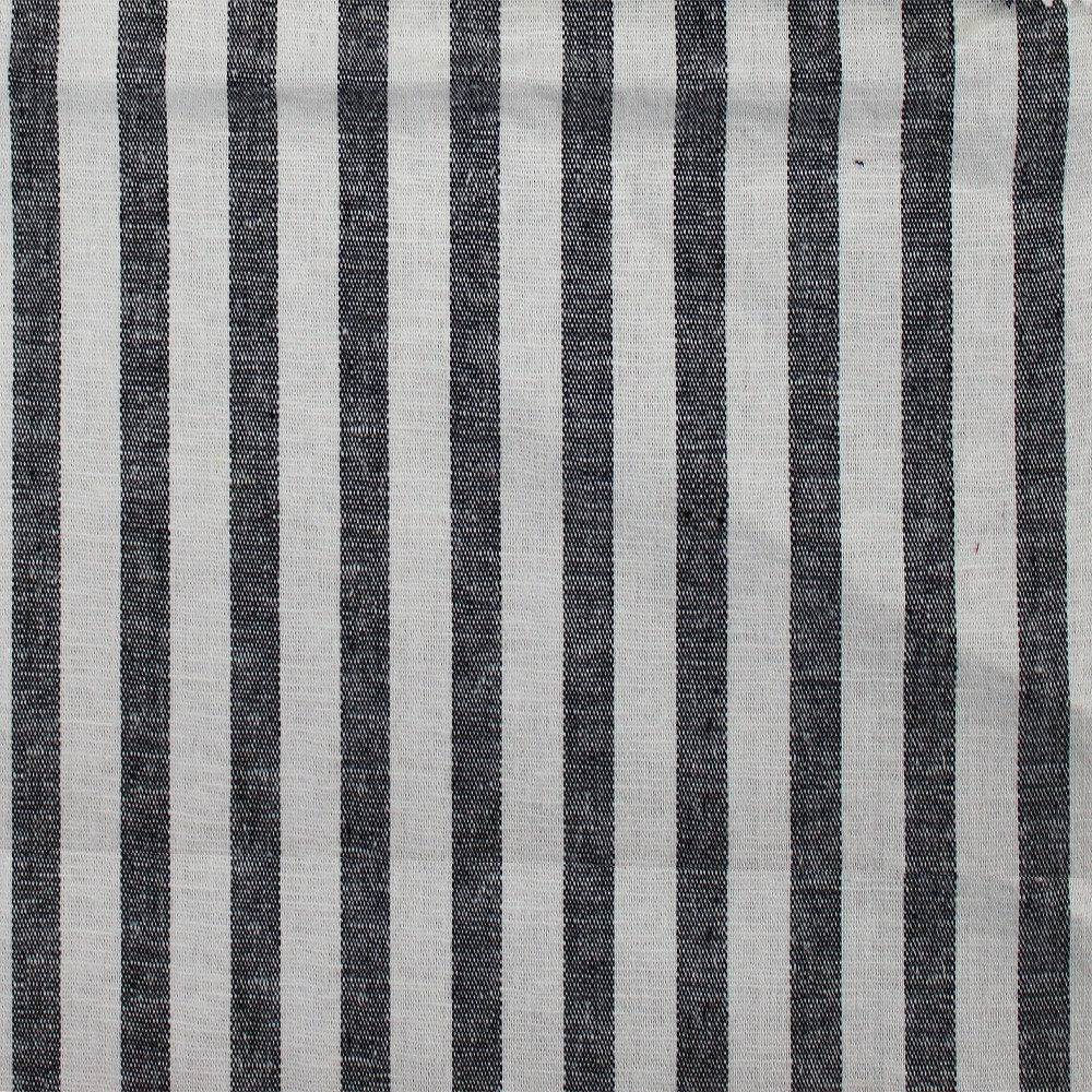 Linen Stone Washed Stripe Black