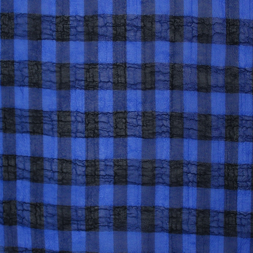 Medium Check Chiffon Yoryu Blue Black