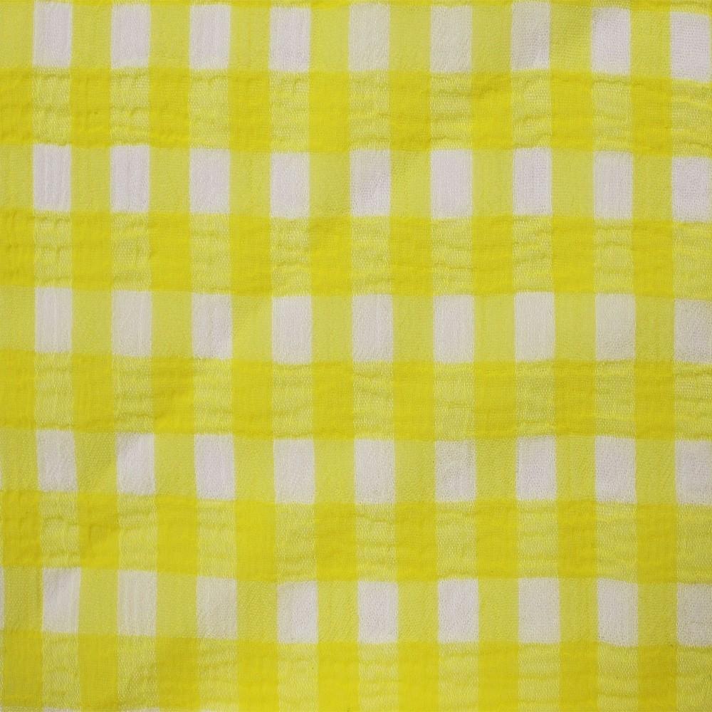 Medium Check Chiffon Yoryu Yellow White
