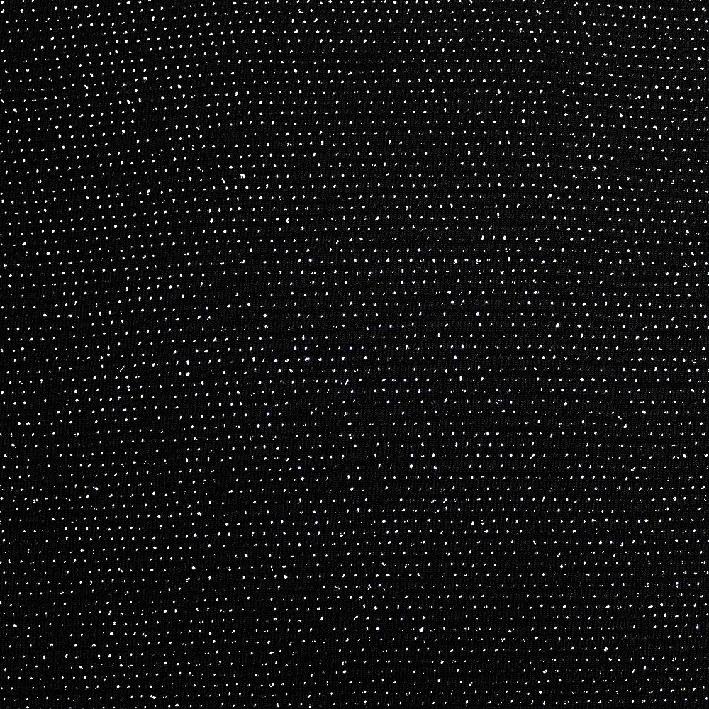 Nylon Dot Metallic Black Silver