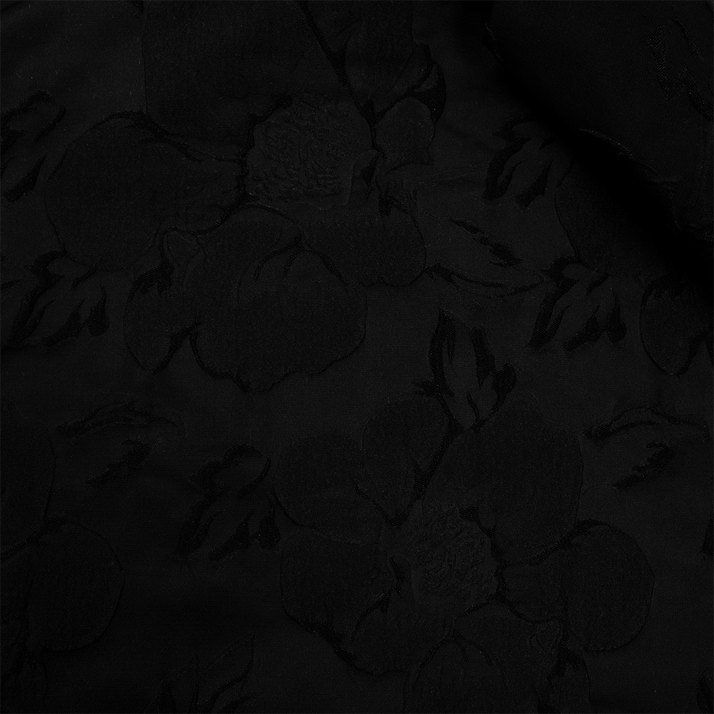 Solid Satin Jacquard Black