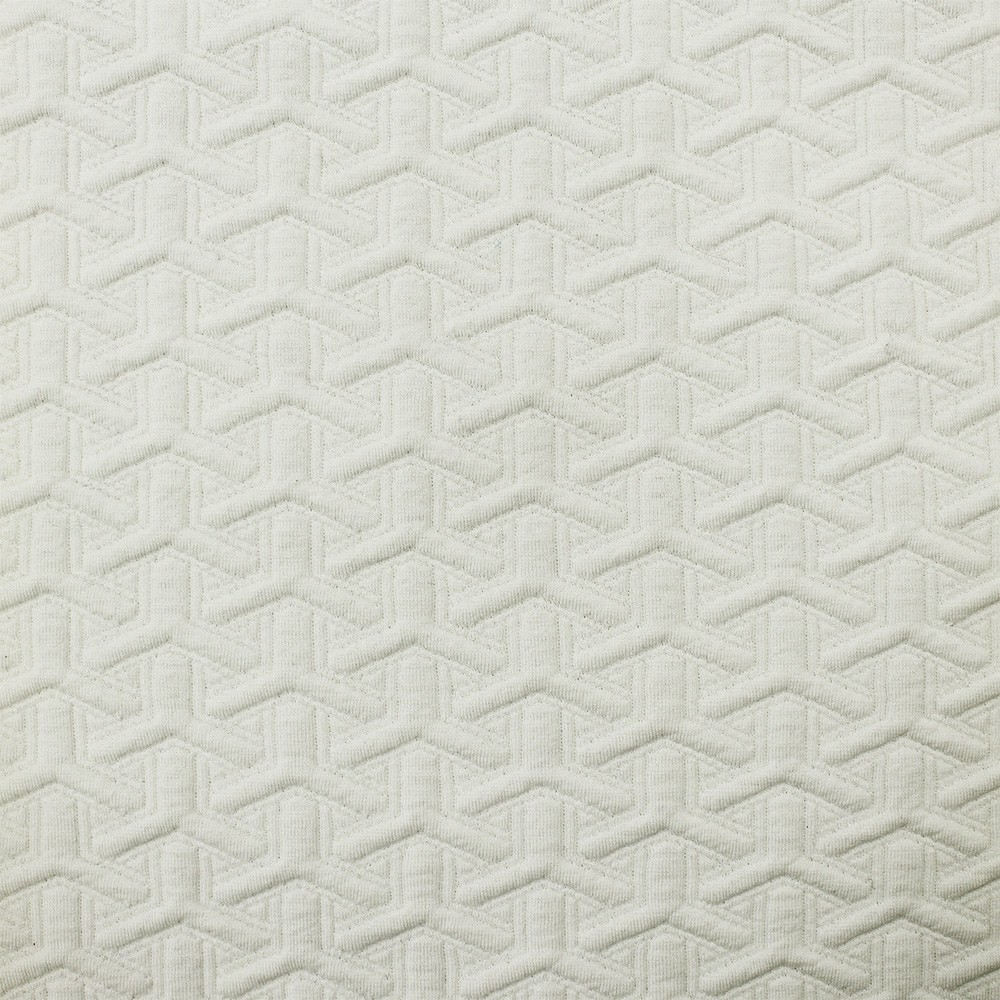 Ponte Roma Quilted Jacquard White