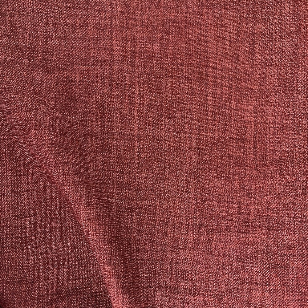 Scratch Linen Look Red Clay