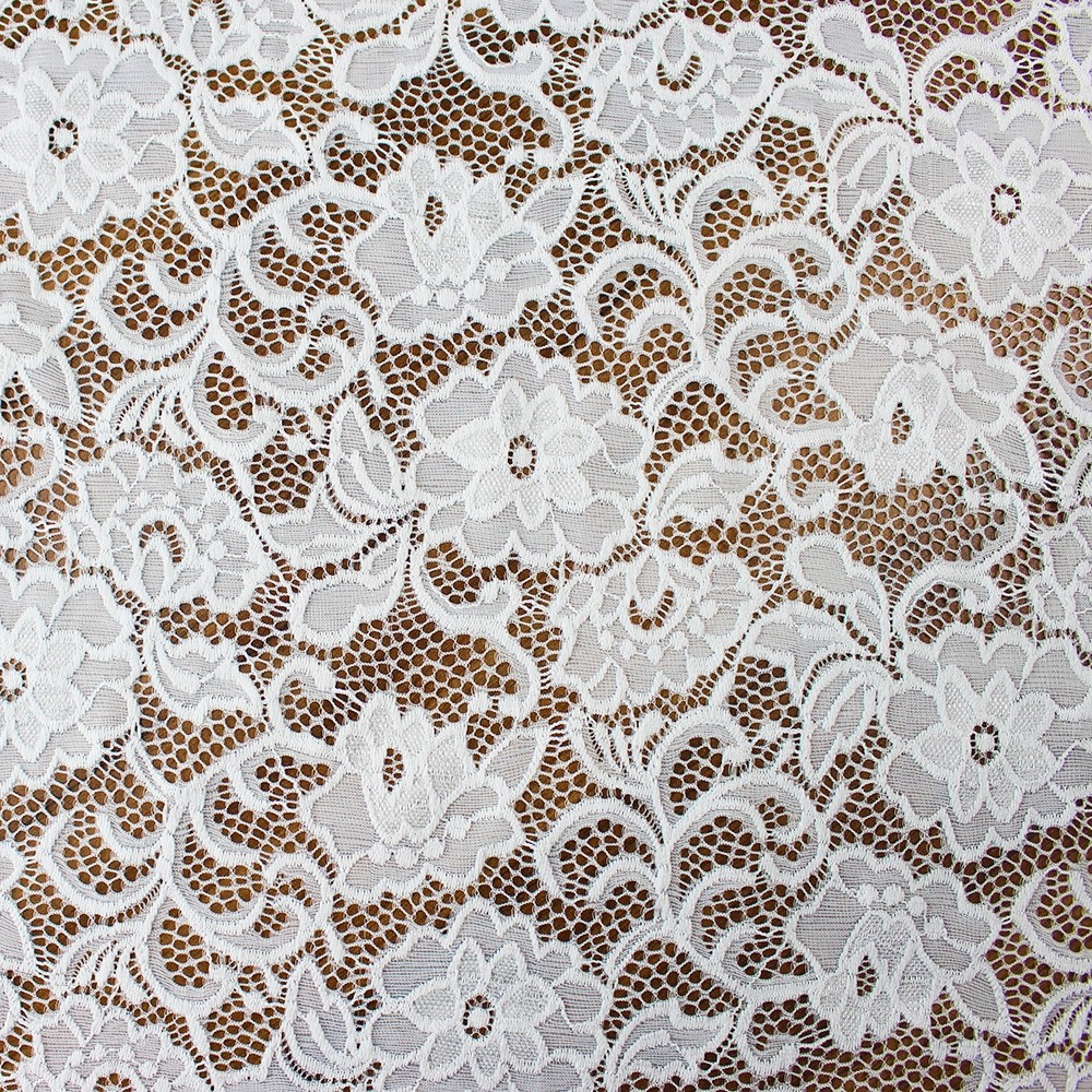 Floral Nylon Lace Ivory