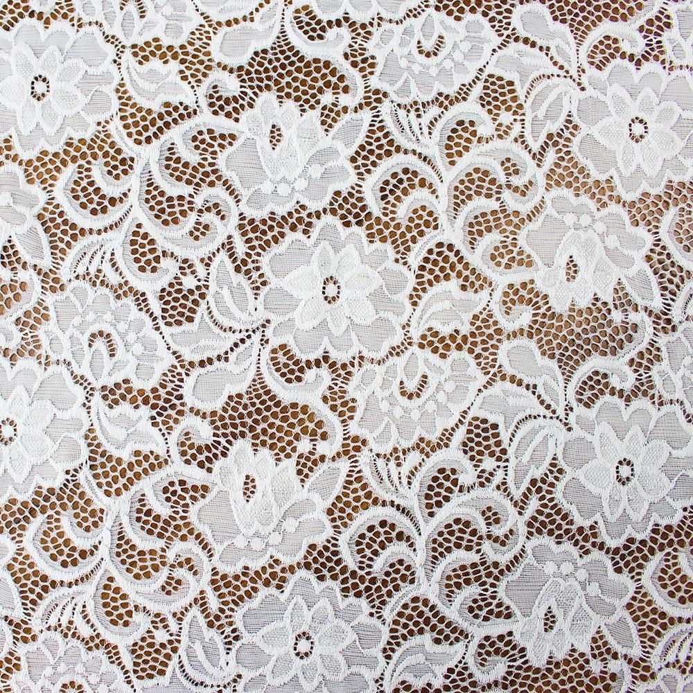 Floral Nylon Lace Ivory