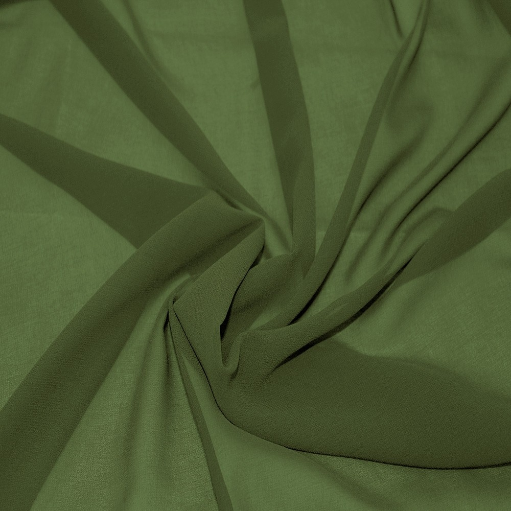 Silky Chiffon Khaki