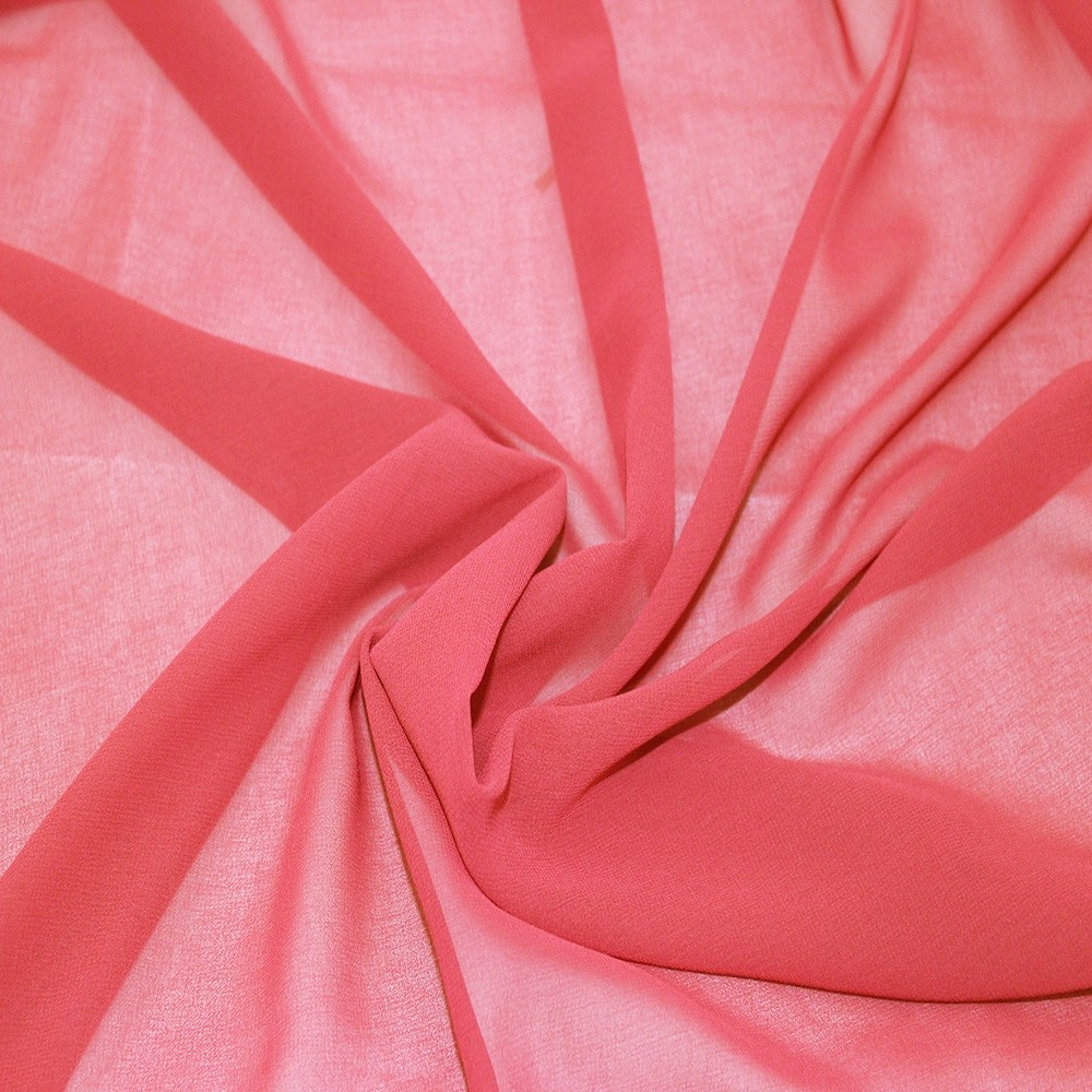 Silky Chiffon Pink Coral