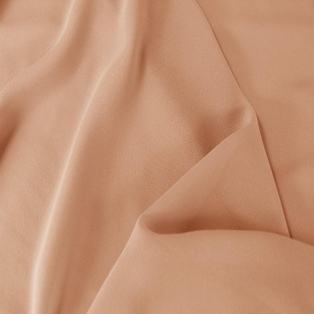 Silky Georgette Peach Blush