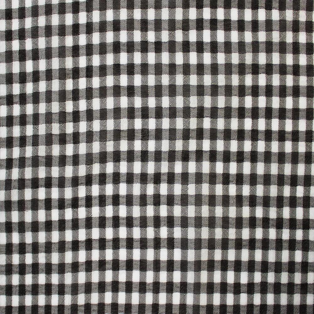 Small Check Chiffon Yoryu Black White