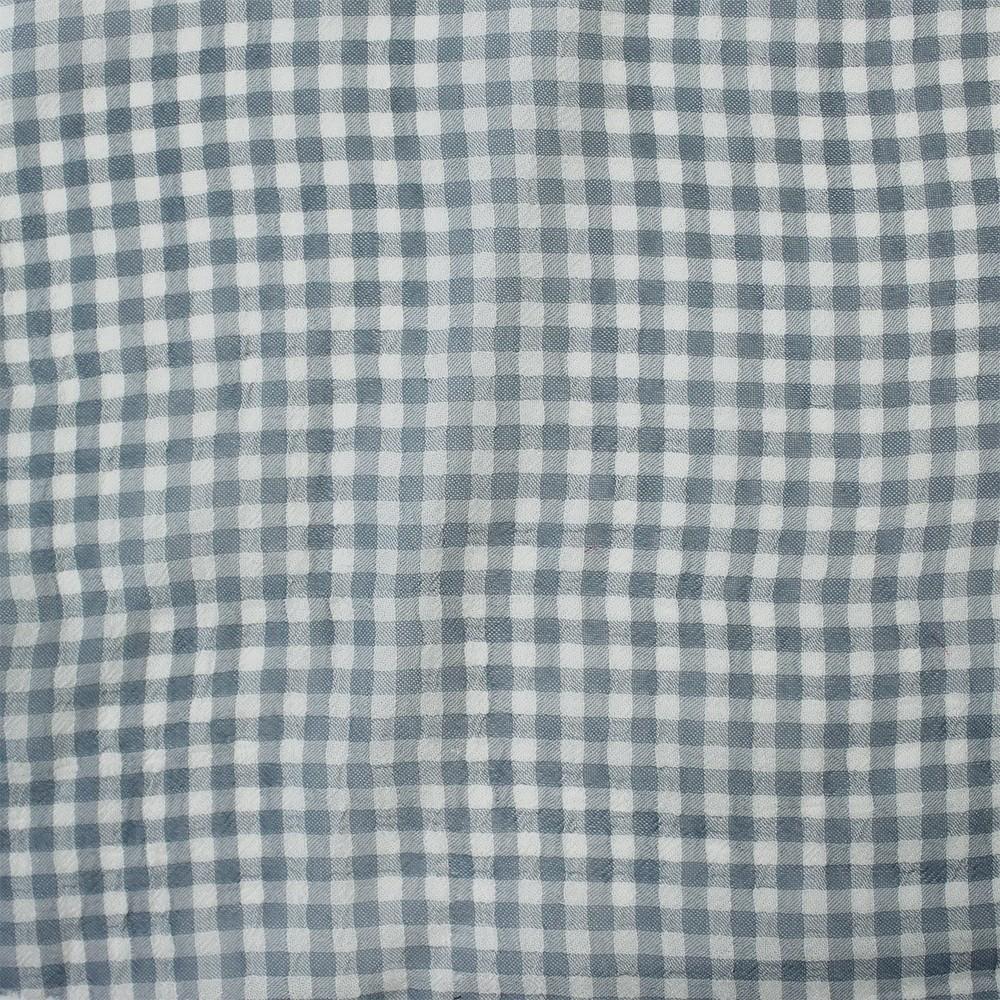 Small Check Chiffon Yoryu Grey Ivory