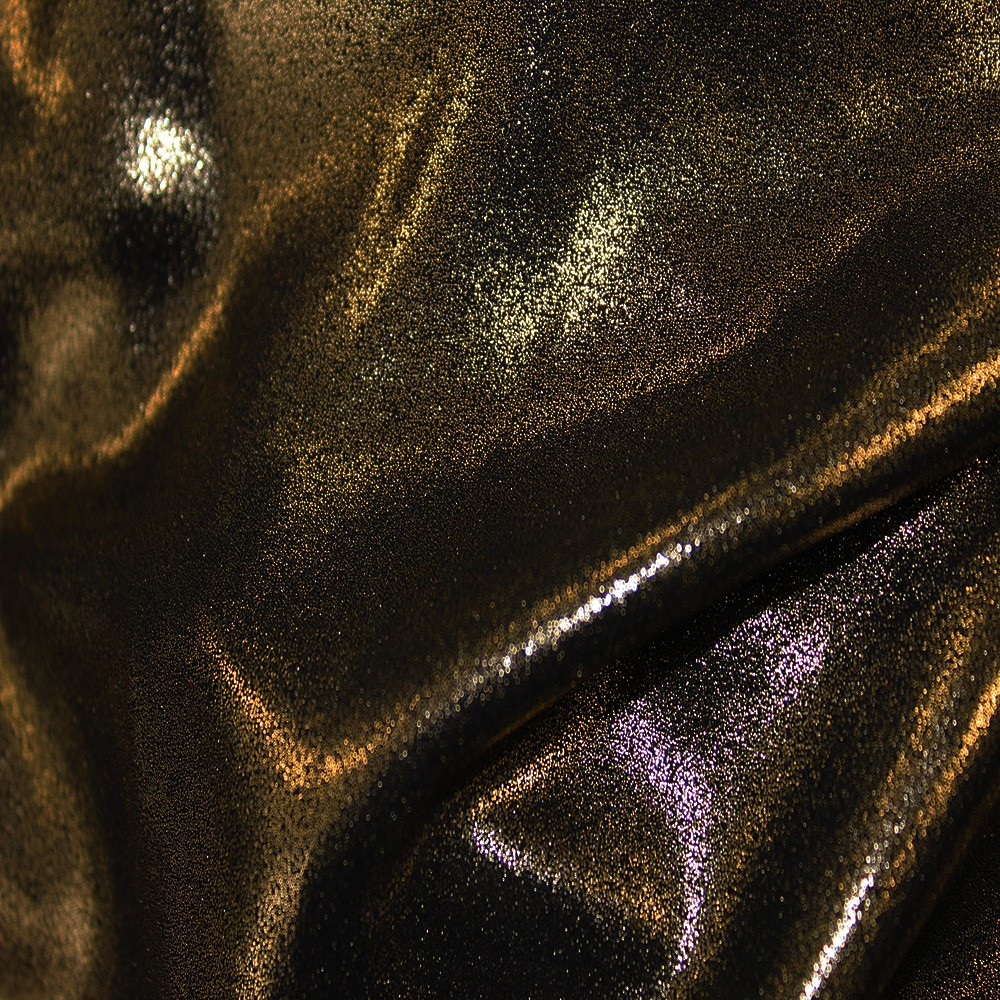 Superior Georgette Foil Black Gold