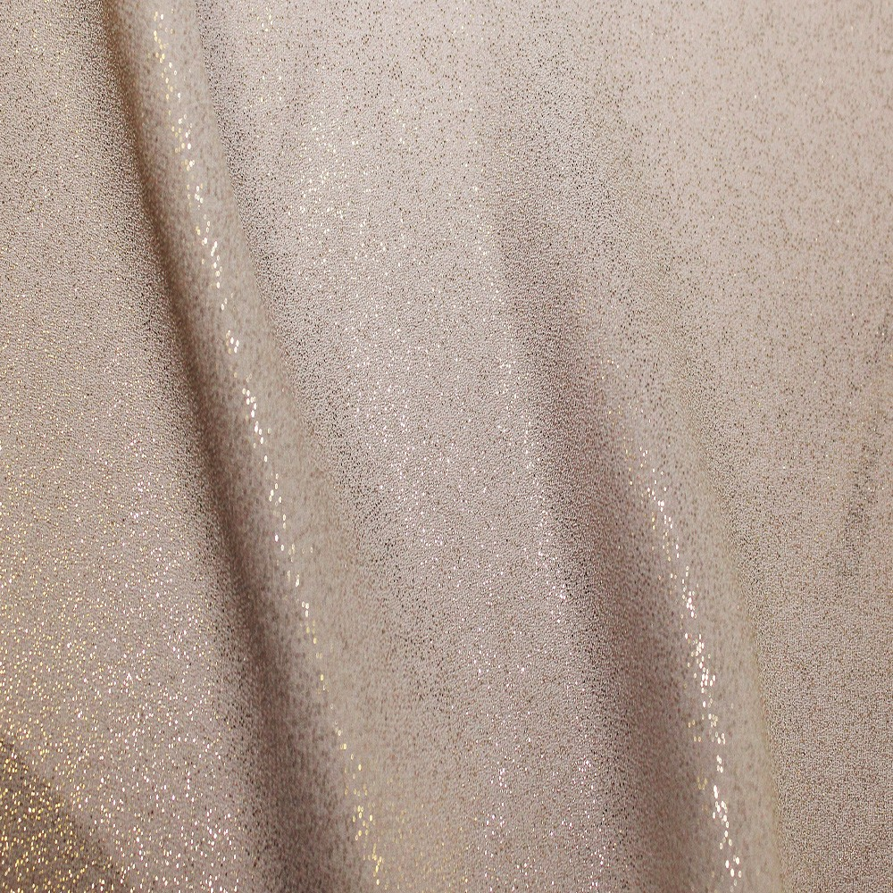 Superior Georgette Foil Taupe Gold