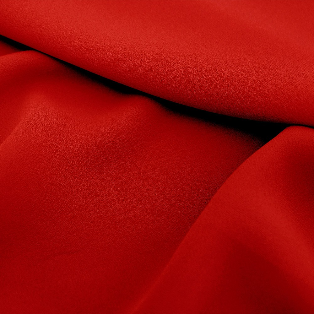 Superior Georgette Poppy Red
