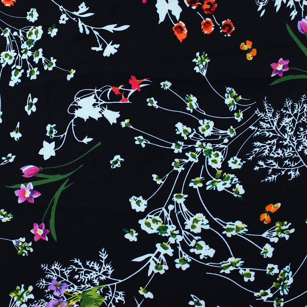 Superior Georgette Multi Colour Floral - New