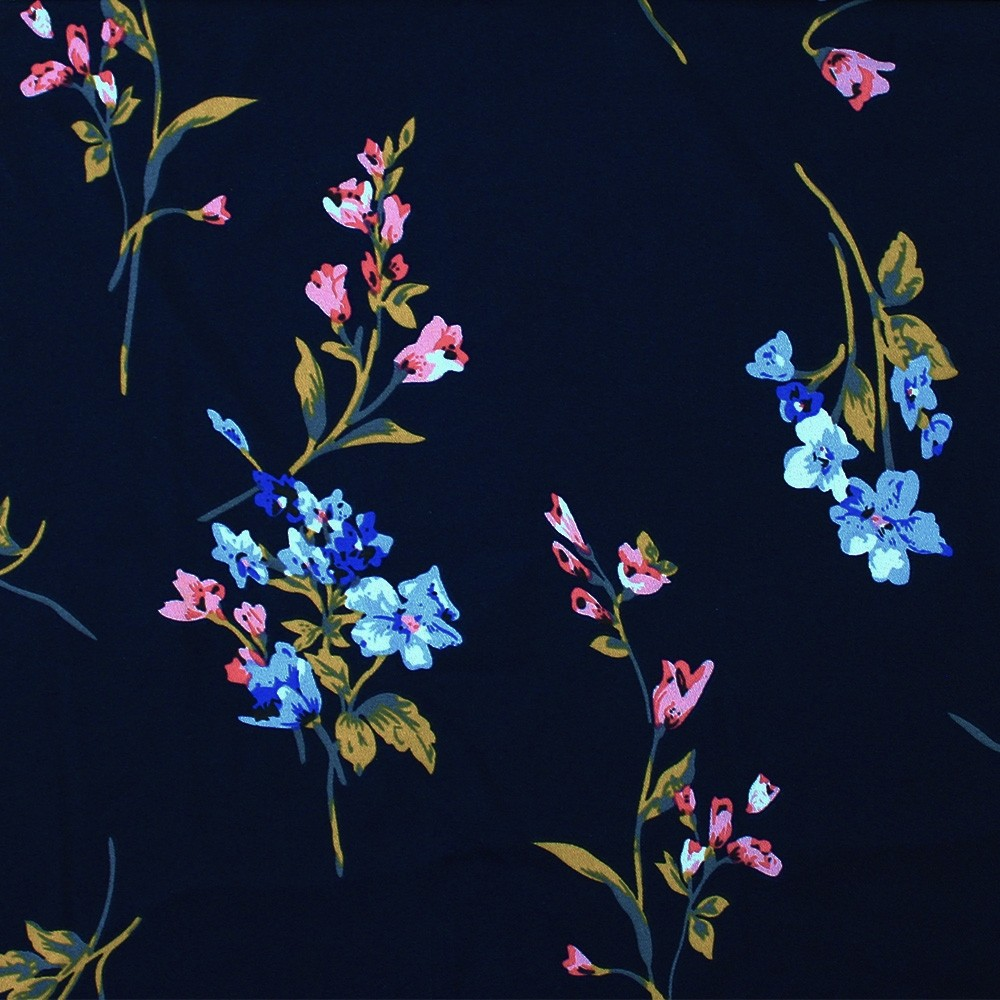Superior Georgette Print Watercolour Floral