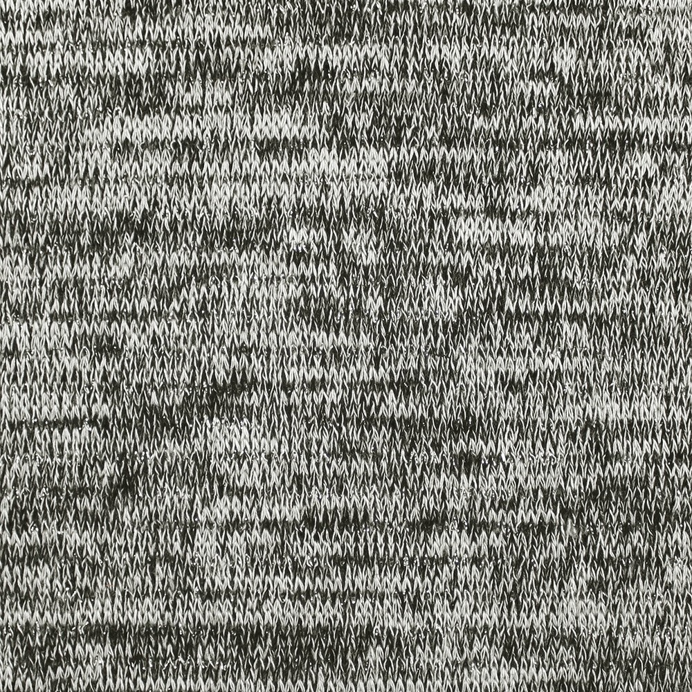 Viscose Elastane Melange Metallic Grey Silver