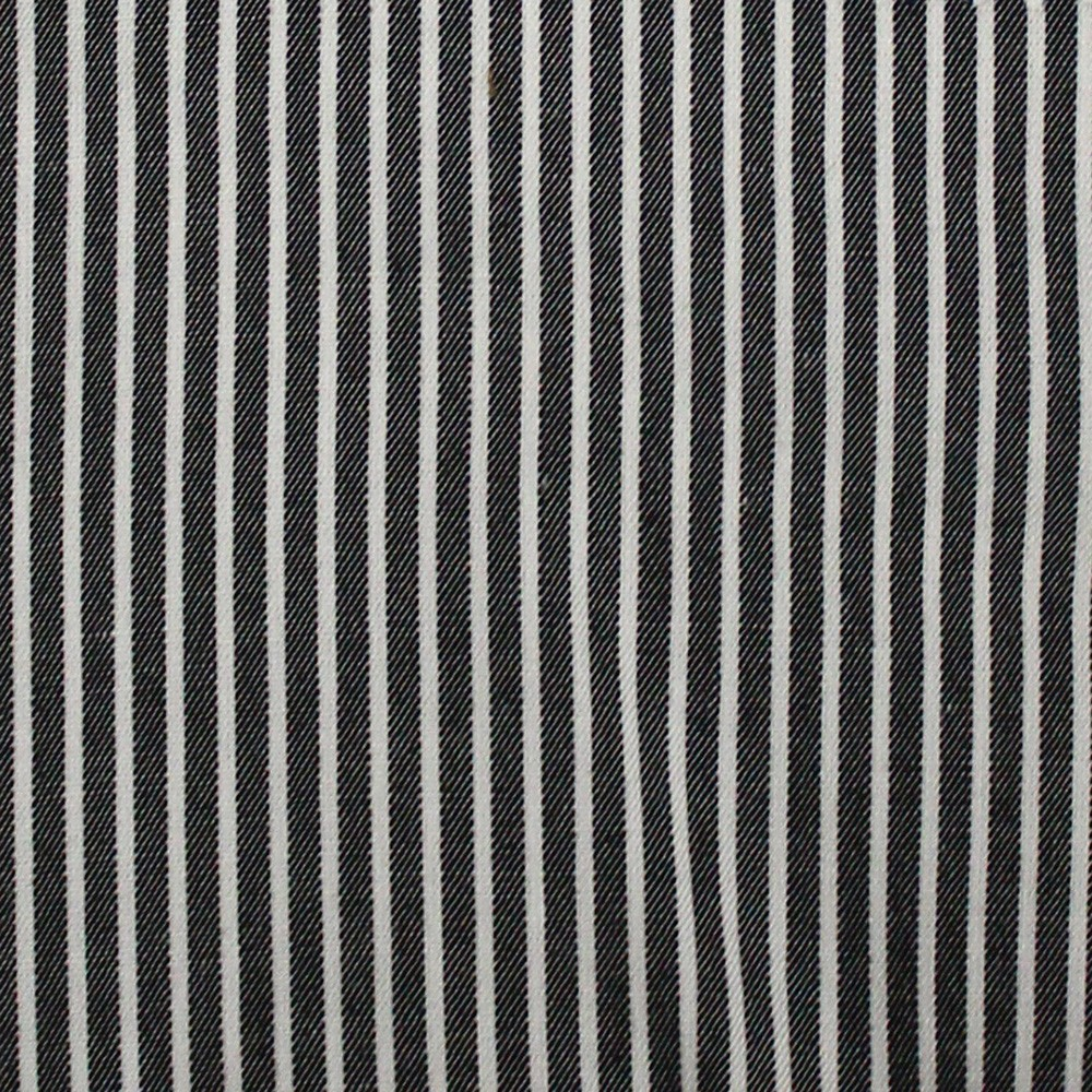 Viscose Yarn Dyed Stripe Black