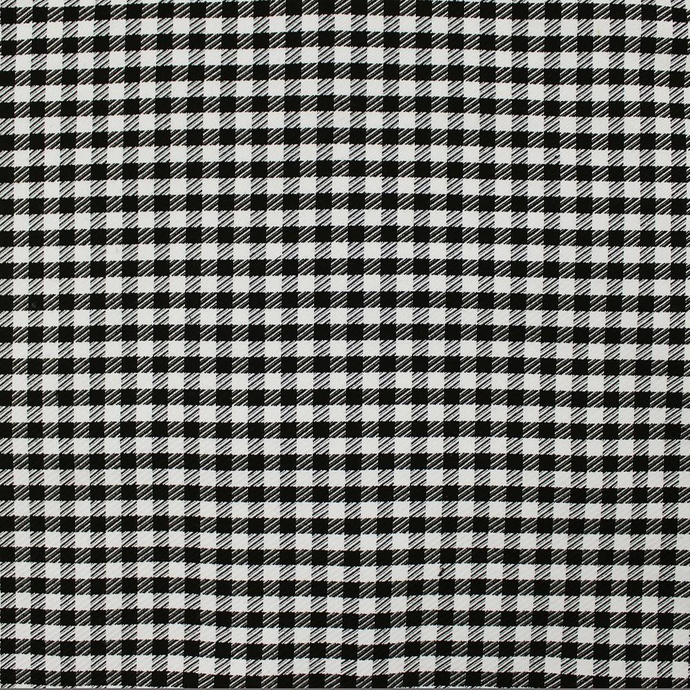 Woven Check CN-2000A D#3 Black White