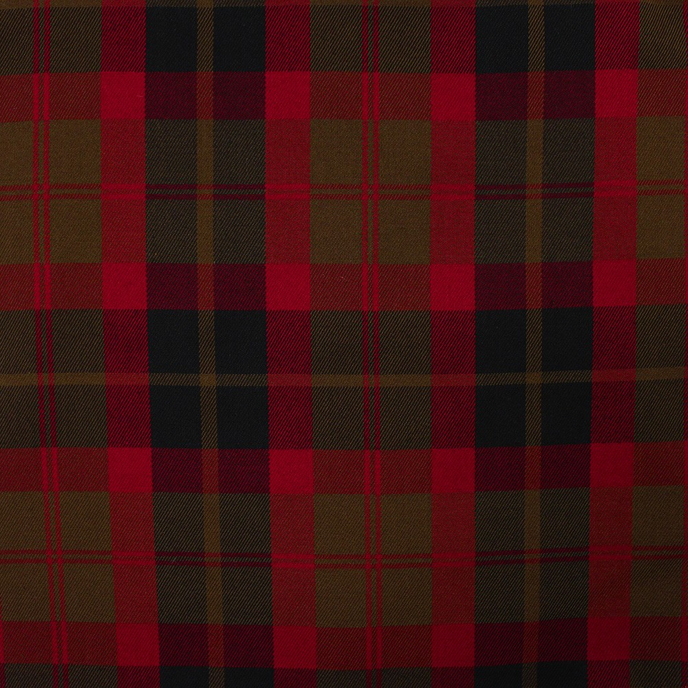 Woven Check Red Brown