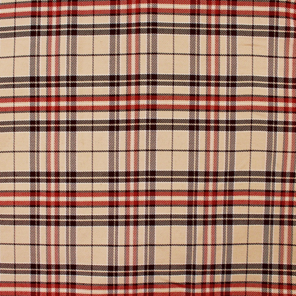 Woven Check Stone Black Red