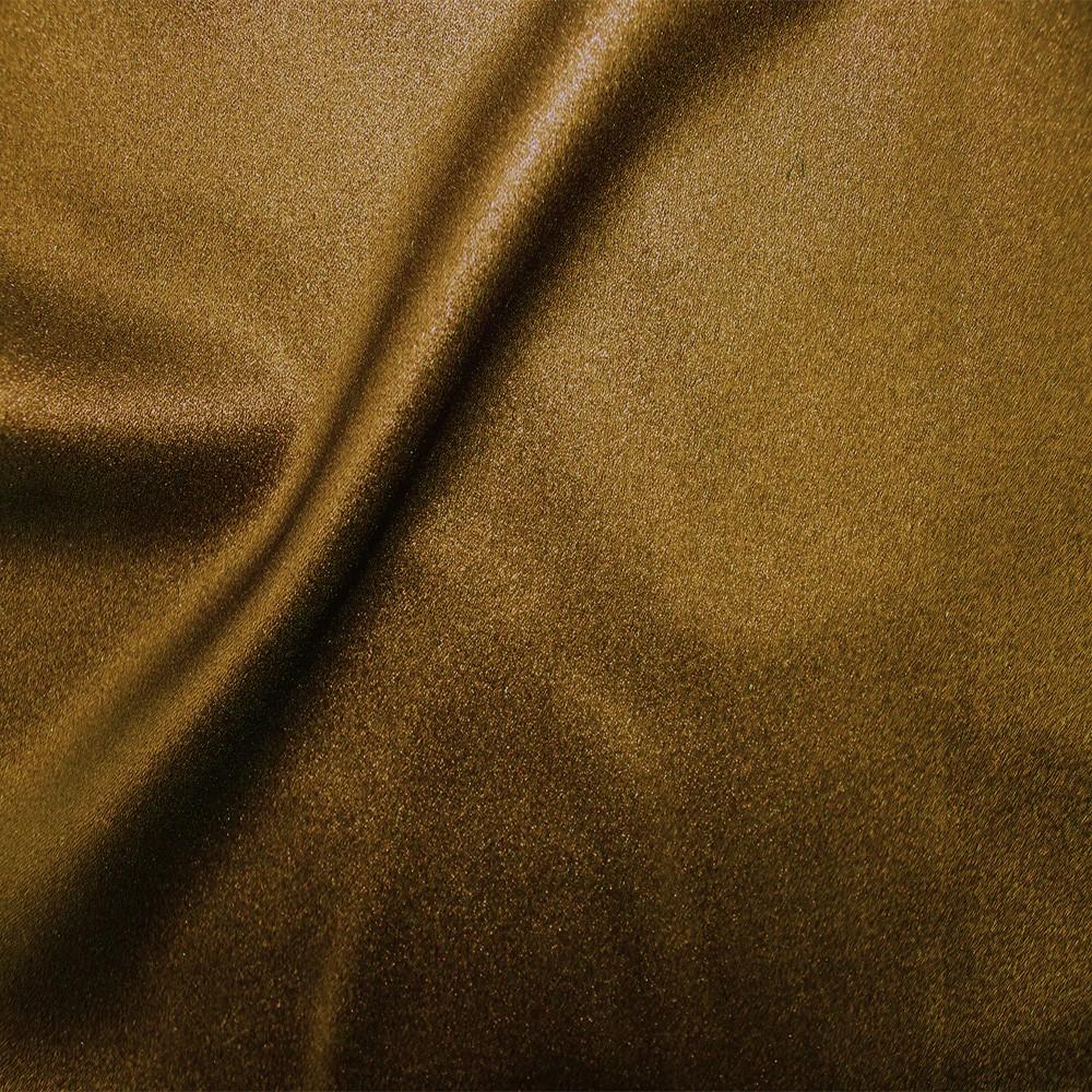 Zara Satin Back Crepe Foil Crepe Side Black Gold