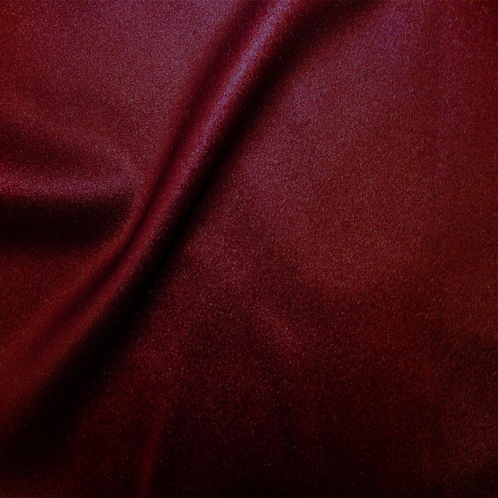Zara Satin Back Crepe Foil Crepe Side Burgundy Burgundy