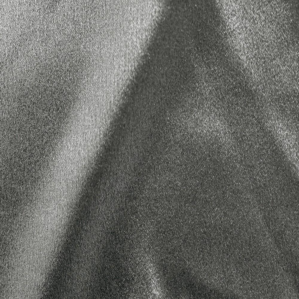 Zara Satin Back Crepe Foil Satin Side Black Silver