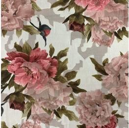Chiffon Jacquard Ivory Floral Print