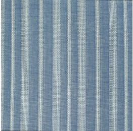 Cotton Border Stripe Blue