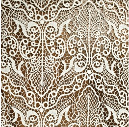 Cotton Embroidery Lace Cream