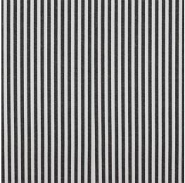 Cotton Poplin Medium Stripe Black