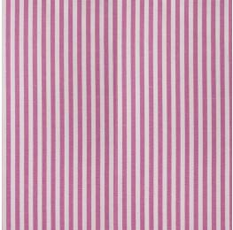 Cotton Poplin Medium Stripe Pink