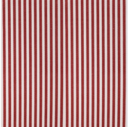 Cotton Poplin Medium Stripe Red