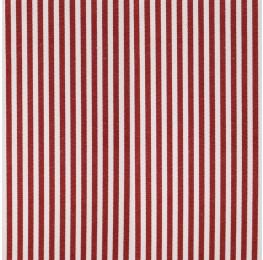Cotton Poplin Medium Stripe Red