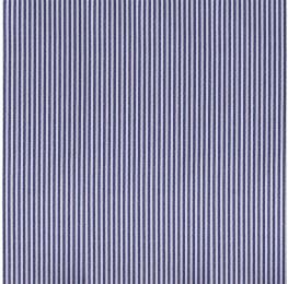 Cotton Poplin Narrow Stripe Denim Blue