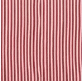 Cotton Poplin Narrow Stripe Red